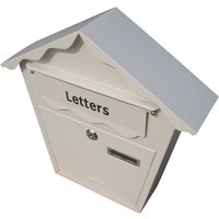 Lockable Postbox White