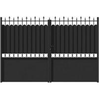 Portail fer JARDIMAT Ronchaux noir - 300 x h.185 cm