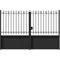 Portail fer Vallières noir - 300 x h.250 cm