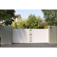 Portail coulissant pvc Cassis blanc - 350 x h.150 cm