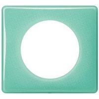Plaque de finition simple LEGRAND Céliane Memories 50's turquoise