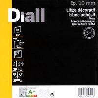 4 dalles de liège adhésive DIALL blanche - 50 x 50 cm ép.10 mm
