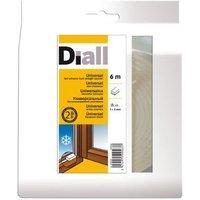 Joint mousse adhésif DIALL 1 à 5 mm blanc L.6 m
