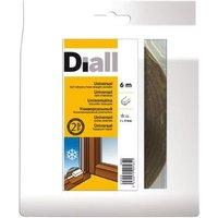 Joint mousse adhésif DIALL 1 à 5 mm marron L.6 m