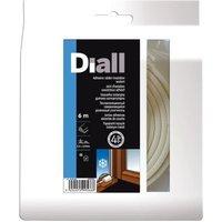 Joint caoutchouc adhésif DIALL profil P 2,5 à 4,5 mm blanc L.6 m
