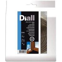 Joint caoutchouc adhésif DIALL profil P 2,5 à 4,5 mm marron L.6 m