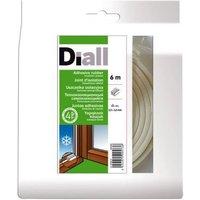 Joint caoutchouc adhésif DIALL profil E 2,5 à 3,5 mm blanc L.6 m