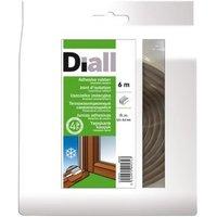 Joint caoutchouc adhésif DIALL profil E 2,5 à 3,5 mm marron L.6 m