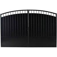 Portail fer BLOOMA Oria noir - 350 x h.181 cm