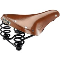Brooks England Flyer Short Saddle - Honey - 176mm Wide, Honey