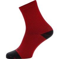 Gore Wear C3 Dot Mid Socks - Red-Black - XL, Red-Black