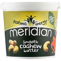 Meridian Cashew Smooth Butter (1000g Tub)