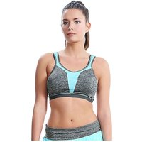Freya Active Force Crop Top SoftCup Sports Bra - Carbon - 28DD, Carbon