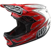 Troy Lee Designs D3 Composite Helmet - Corona Red-White
