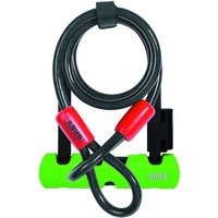 Abus Ultra 410 Mini Bügelschloss (mit Kabel, 140 mm) - Schwarz - Grün
