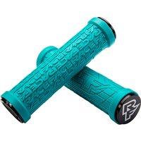 Race Face Grippler Lock-on Mountain Bike Grips - Turquoise - 33mm, Turquoise