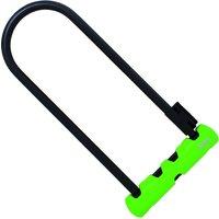Abus Ultra 410 Bügelschloss (mit Kabel, 300 mm) - Schwarz - Grün