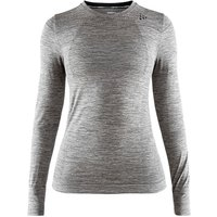 Craft Damen Fuse Knit Comfort Funktionsshirt - Dark Grey Melange - XL