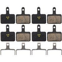 Nukeproof Shimano Deore M515-M525-Tektro Bremsbeläge (4er Pack) - Schwarz - Organic