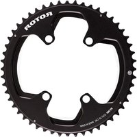 Rotor Round Chainring BCD110x4 Outer - Black - 50t, Black
