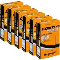 Continental Quality 20-25c Rennradschlauch (6er Pack) - Schwarz - 60mm
