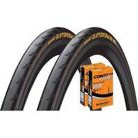 Continental Gatorskin 23c Tyres + 2 Tubes - Schwarz - 700c