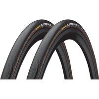 Continental Sprinter Gatorskin Tubular Tyres- Pair - Schwarz - 700c