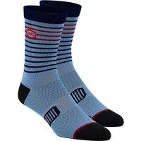 100% Advocate Performance Socks - Blau - L/XL/XXL