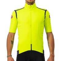 Image of Castelli Gabba Ros Light Jersey - Yellow Fluo - M, Yellow Fluo