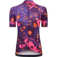 dhb Blok Womens Short Sleeve Jersey - River - Pink-Orange - UK 14, Pink-Orange