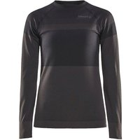 Craft Women´s Warm Instensity CN LS - Black-Titanium - XXL