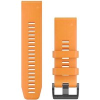 Garmin 26mm QuickFit Silicone Watch Band - Solar Flare Orange