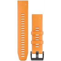 Garmin 22mm QuickFit Silicone Watch Band - Solar Flare Orange