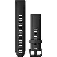 Garmin 20mm QuickFit Silicone Watch Band - Black.