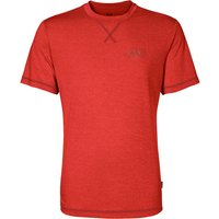 Image of Jack Wolfskin Crosstrail Tee - Lava Red - M, Lava Red
