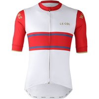 LE COL By Wiggins Sport Jersey (White-Red) - Red-Blue - XXL, Red-Blue