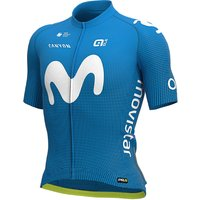 Ale Movistar 2020 PRR Short Sleeve Jersey  - Light Blue, Light Blue