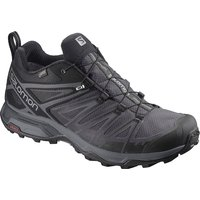 Salomon X Ultra 3 Wide Gore-Tex Hiking Shoes - Black-Magnet-Quiet Shade - UK 9