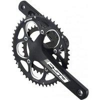 FSA Omega 9 Speed Crankset - Matte Black - 50.39.30t, Matte Black