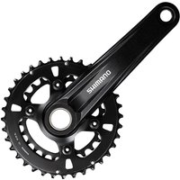 Shimano MT610 12 Speed Double Chainset - Black - 36.26t, Black
