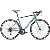 "Image of Cube Attain Road Bike 2021 - Greyblue - Red - 56cm (22""), Greyblue - Red"