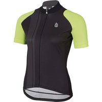Etxeondo Women's Nere Short Sleeve Jersey  - Black-Yellow Fluro