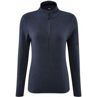Fohn Womens Trail Quarter Zip Recycled Fleece - Navy - UK 8, Navy