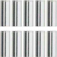 LifeLine CNC Bremskabelgehäuse Kappen (10er Pack) - Silber  - 5mm