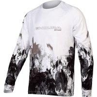 Endura MT500 Ink Long Sleeve Cycling Jersey - Black, Black