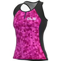 Ale Women's Solid Triangles  Jersey SS21 - Rosa Fluo-Viola-Fluo Pink-Violet, Rosa Fluo-Viola-Fluo Pi