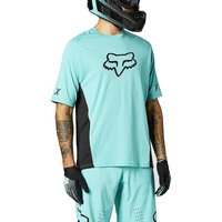 Fox Racing Defend Short Sleeve Jersey 2021 - Teal - XXL, Teal