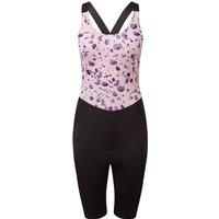 dhb Moda Womens High Cut Bib Shorts - MARMO 2021 - BLACK-PINK - UK 18, BLACK-PINK
