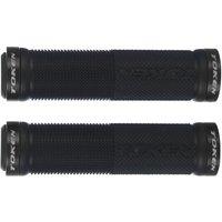 Token Double Lock On Mountain Bike Grips - Black - 130mm, Black