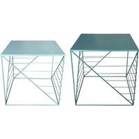 Jardin Loisirs Sport> Mobilier de jardin > Table et chaises de jardin. Set de 2 bouts de canapé AXELLE coloris vert